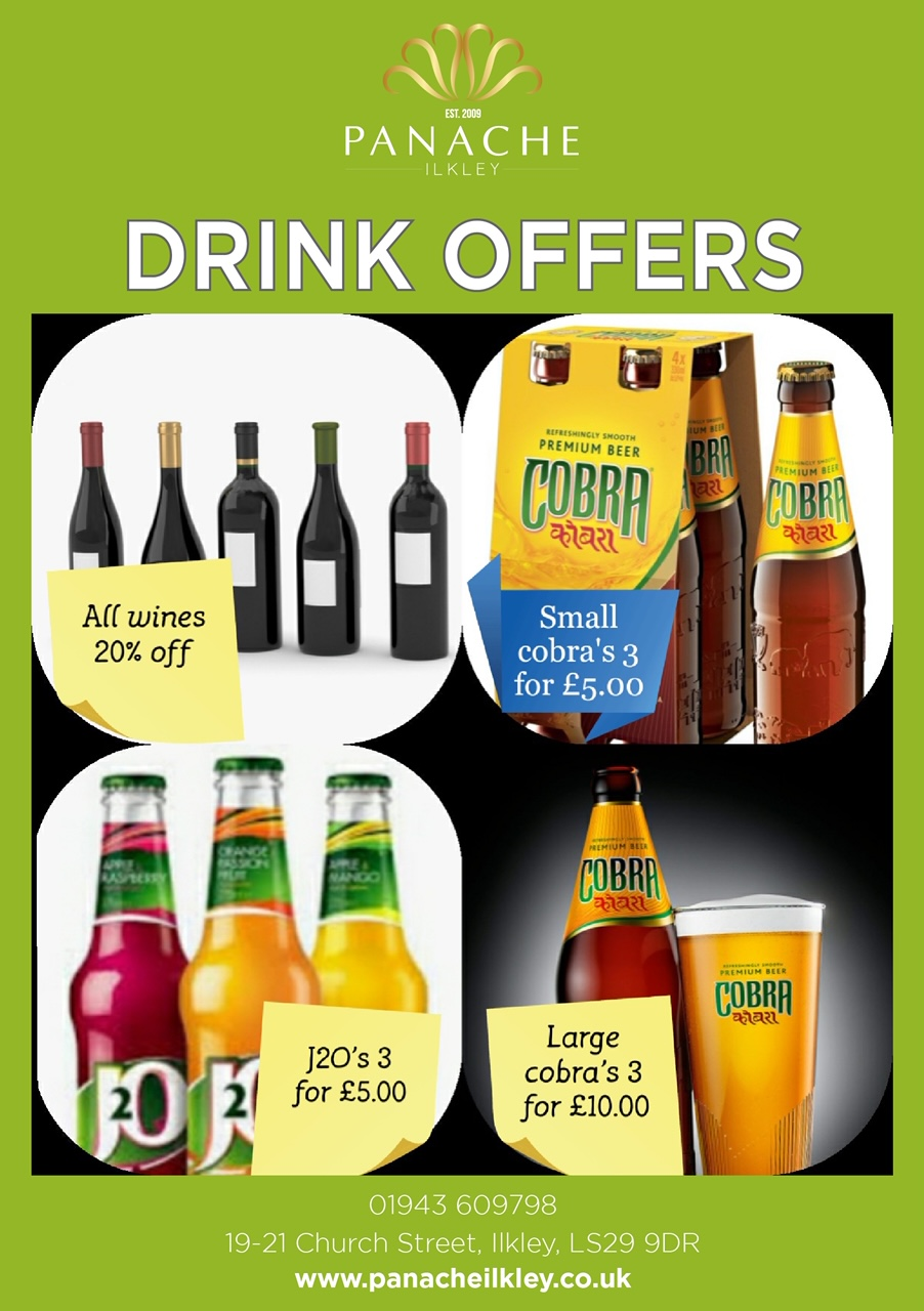 Order Your Drinks For Your Takeaway